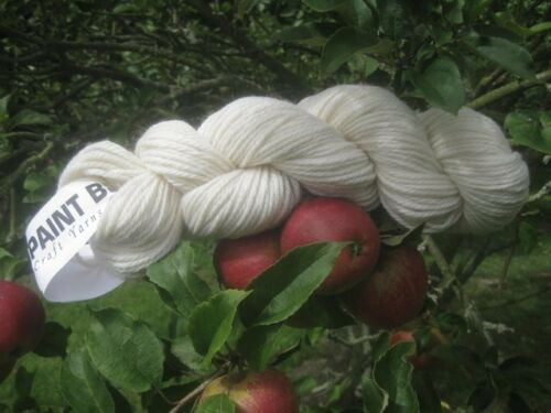 Cream 100/%Pure New Wool Ideal for Dyeing Chunky Aran Lt Knitting or Rug Making