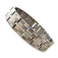 Accents Kingdom Men's Dual Power Magnetic Titanium Golf Bracelet T22