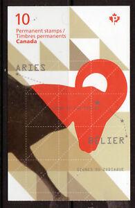 Kanada-2011-Aries-Zodiac-Broschuere-Nicht-Gefasst-Postfrisch