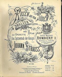 034-Rosen-aus-dem-Sueden-034-von-Johann-Strauss-uebergrosse-alte-Noten