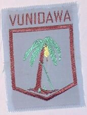 VUNIDAWA SCOUT BADGE MINT VINTAGE size approx 60mm x 45mm