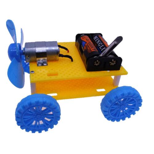 DIY Mini Wind Toy kit Car Child Educational Toy Propeller Motor Robot Gadget