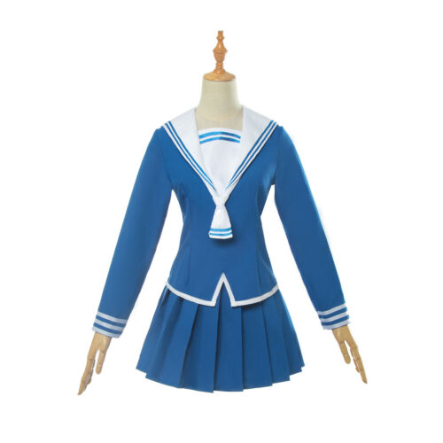 FRUITS BASKET Honda Tooru Cosplay Costumes Blue Uniform Dress Sailor Skirt Bow