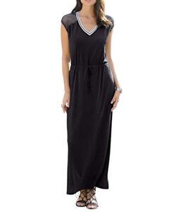 niedrigster Rabatt abholen Los Angeles Details zu Alba Moda Maxikleid schwarz langes Kleid Jersykleid Gr.38,40,42