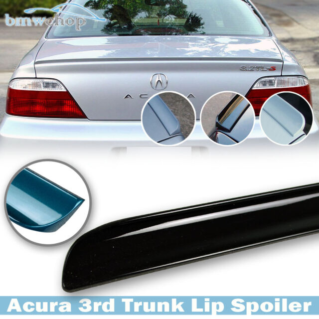 For Acura TL 3rd 4D Painted NH731P Crystal Black Trunk Lip