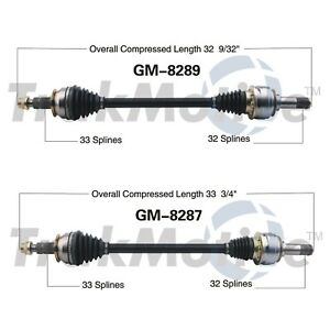 For Chevy Camaro 2010-2015 Pair Set of Rear Left /& Right CV Axle Shafts SurTrack