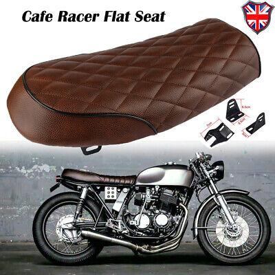 Motorcycle Cafe Racer Seat Flat Brat Saddle For Honda Suzuki Kawasaki Yamaha