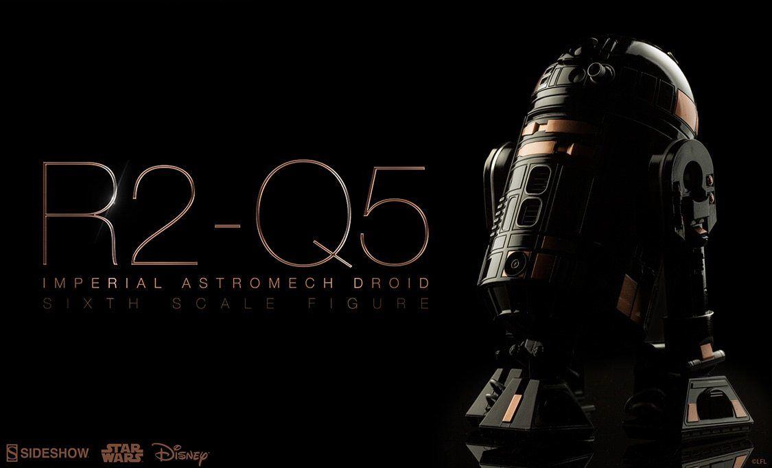 Sideshow Estrella Wars R2Q5 Astromech Droid Sexta Escala Figura Imperial. nuevo Sellado.