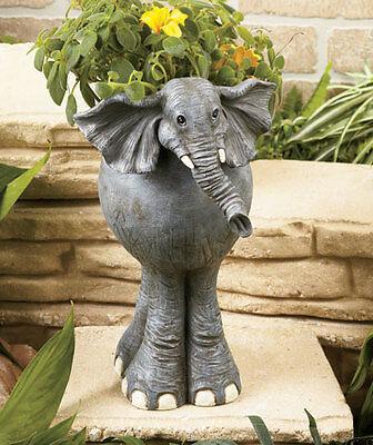 Elephant Safari Animal Planter Flower Pot Garden Outdoor Indoor Plants