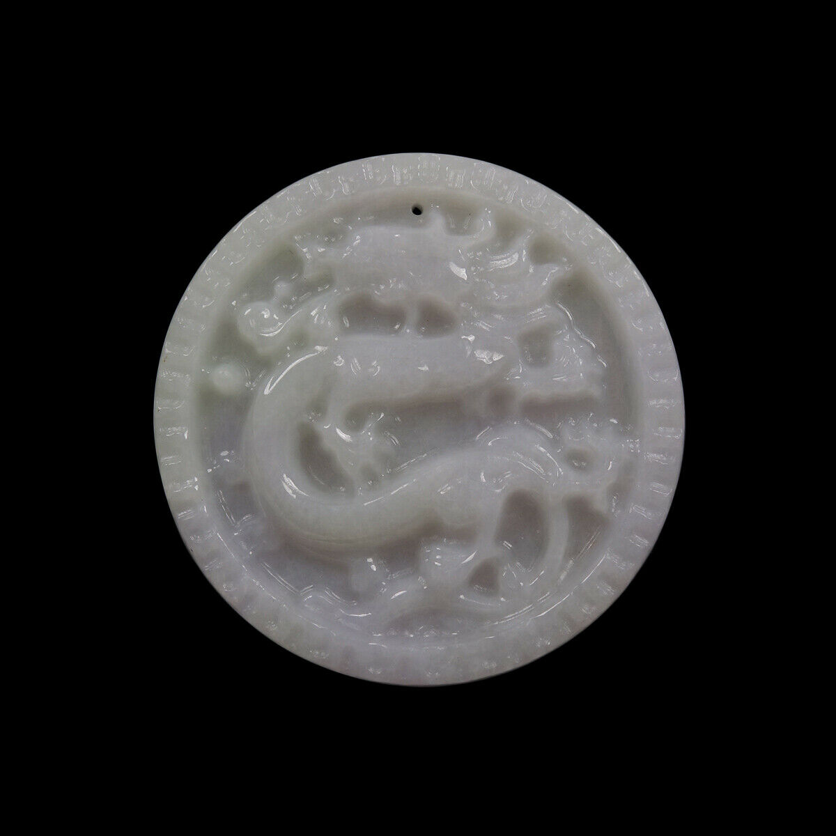 Certified Grade A 100% Natural Lavender Green Jadeite Jade Pendant Dragon 01591
