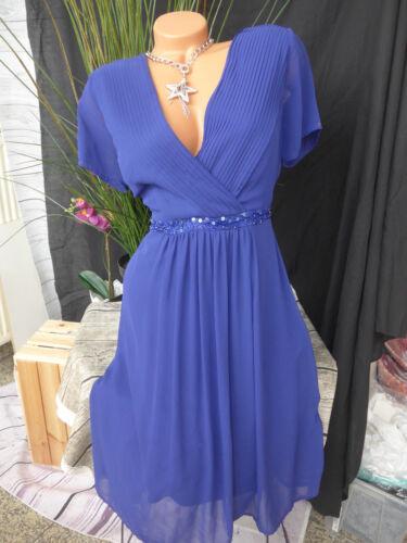 40-50 Blau 747 Guido Maria Kretschmer Kleid Eventkleid Chiffon Gr