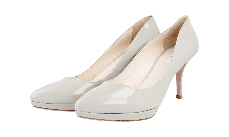 LUXE PRADA Escarpins Chaussures 1ip069 Ghiaccio NEUF NEW 40,5 41 UK 7.5
