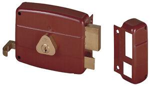 Belle Serratura Cisa 50120.40 Dx Mm.40 Applicare Porta In Legno Cilindro Staccato