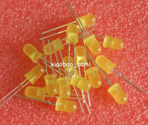 1000PCS 5mm Yellow Super Bright Diffused LED Light Lamps