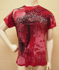 Christian Audigier Studded Eagle Red T-Shirt (L) NEW