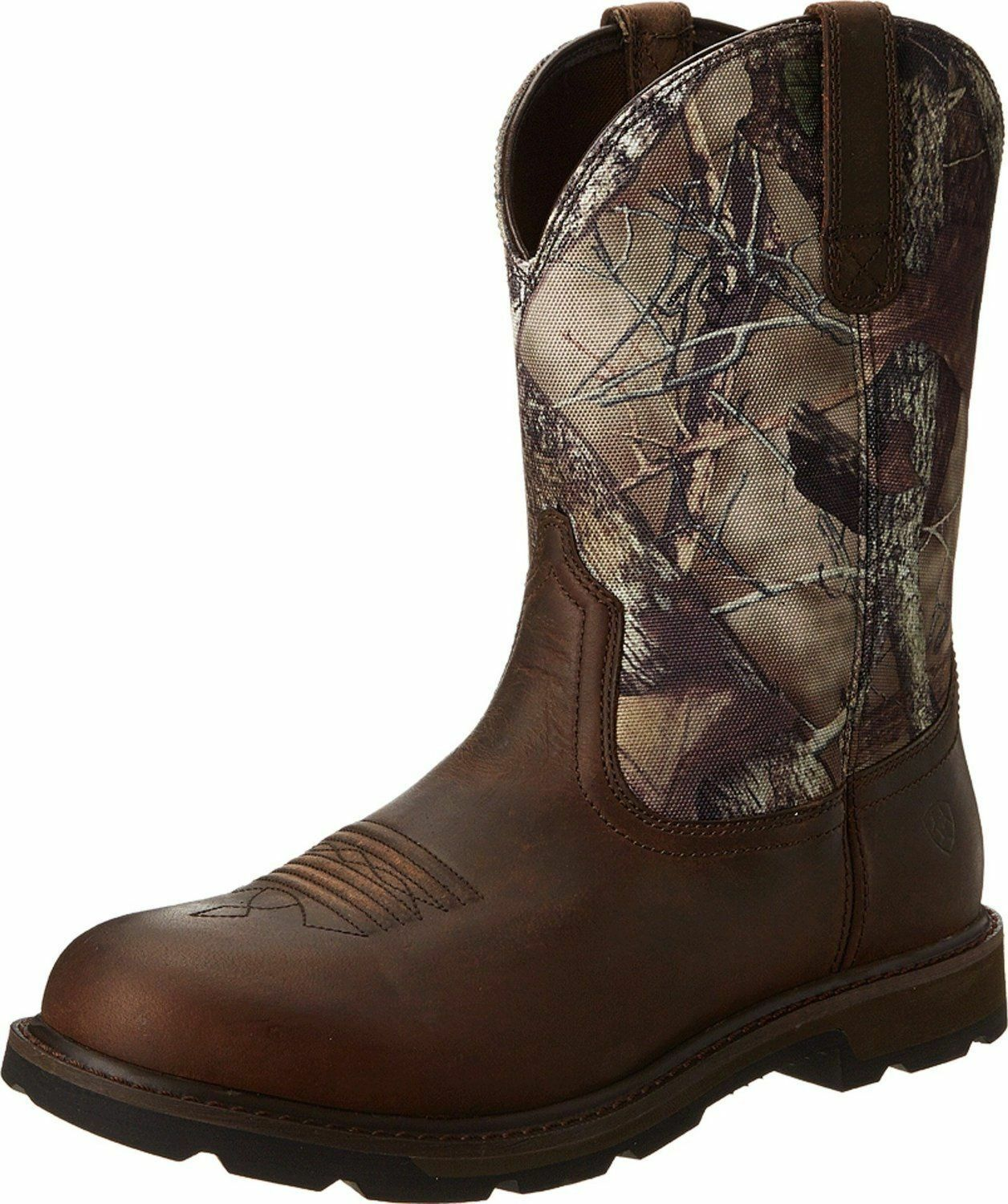 Ariat Men's Groundbreak Camo Steel Toe Work Safety Western Boots 10014246
