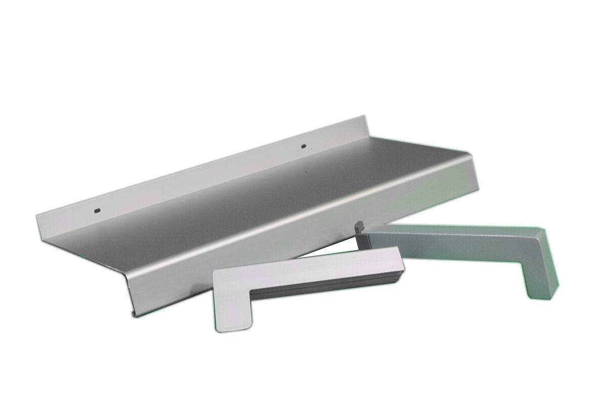 Aluminium Fensterbank silber EV1 340 mm Ausladung Aussen Fensterblech
