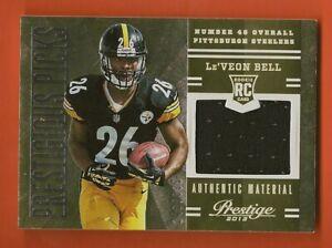Details about Le'VEON BELL - 2013 Prestige Prestigious Picks Material Jersey #246/399 Steelers