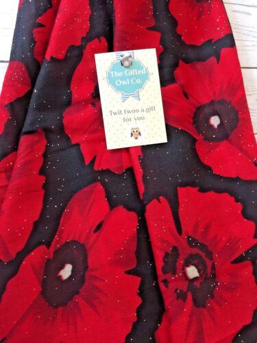 GIANT GLITTER POPPY FIELD RED /& BLACK SOFT FLOWER SCARF SHAWL WRAP GIFT POPPIES