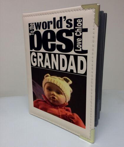 Personalizado de imitación de cuero foto álbum libro de memoria Wolds mejor Abuelo De Regalo