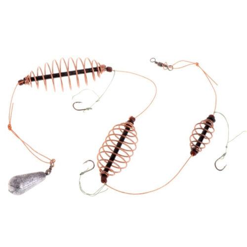 1 Pc 15g//20g//25g//30g Fishing Bait Cage Hook Lead Sinker Swivel With Line Hooks