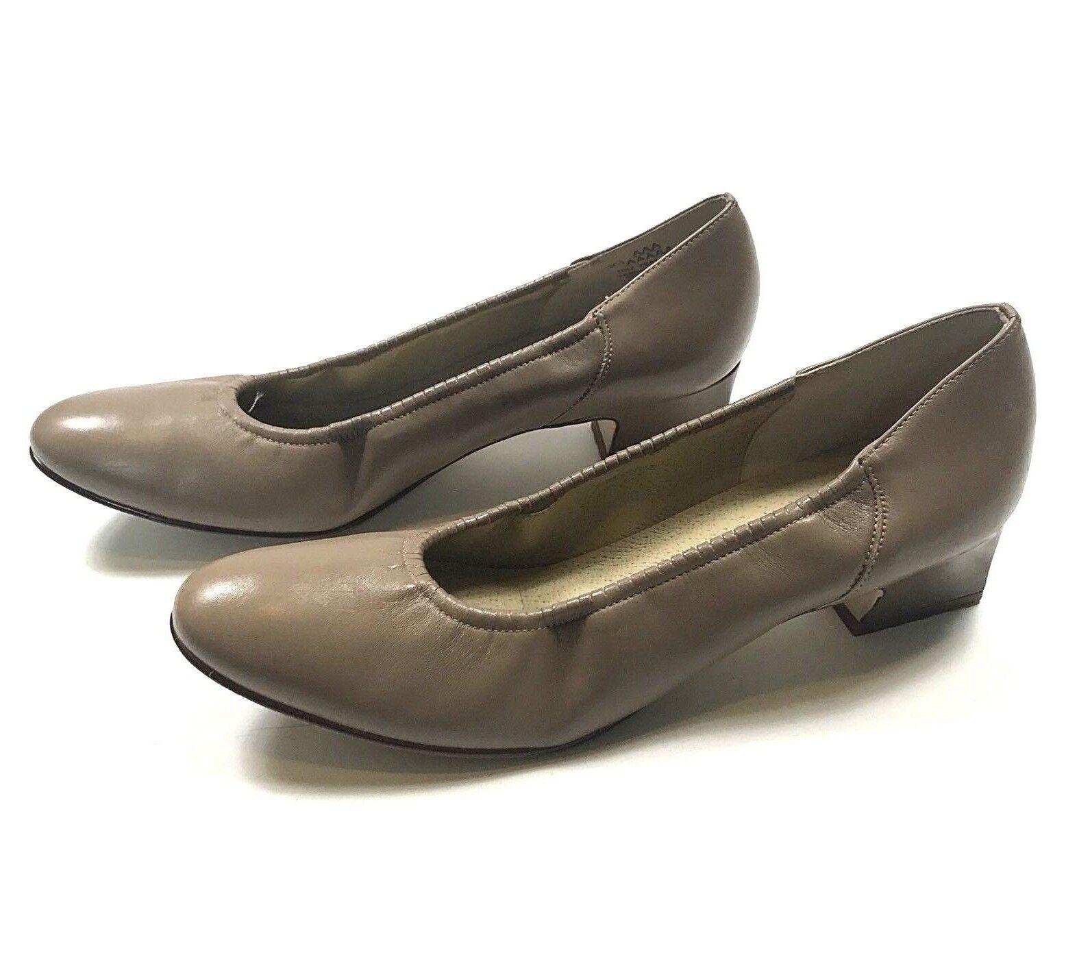 Naturalizer Womens Comfort Shoes Block Heels Slip On Tan Tan On 9.5 AAA Extra Narrow f3e3f0