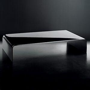 Plexycam tavolino tavolo alzata porta tv in plexiglass nero lucido spessore 10mm ebay - Porta tv plexiglass ...