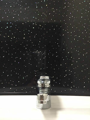 8 Black Sparkle Bathroom Wall PVC Cladding Ceiling Shower Plastic Panels