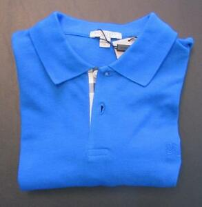 Image is loading Burberry-Brit-golf-shirt-Bright-Opal-blue-turquoise-