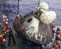 8x10 Nasa Photo: Odyssey, Apollo 13 Command Module After Splashdown