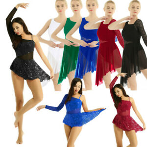 Women-039-s-Ballet-Dance-Dress-Leotard-Lyrical-Modern-Contemporary-Latin-Dancewear