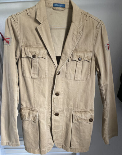 Polo Ralph Lauren Men's Battledress Jacket Red Swo
