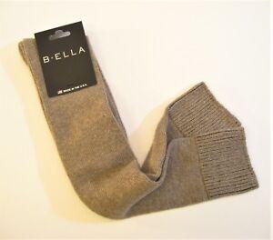 b.ella Ladies Wool Cashmere Angora Blend OVER Knee Socks Bess Grey NEW