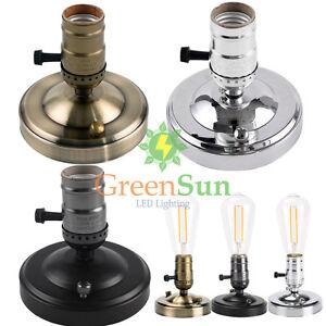 Retro Edison E27 E26 Alu Lampenfassung Mit Schalter Tischlampe