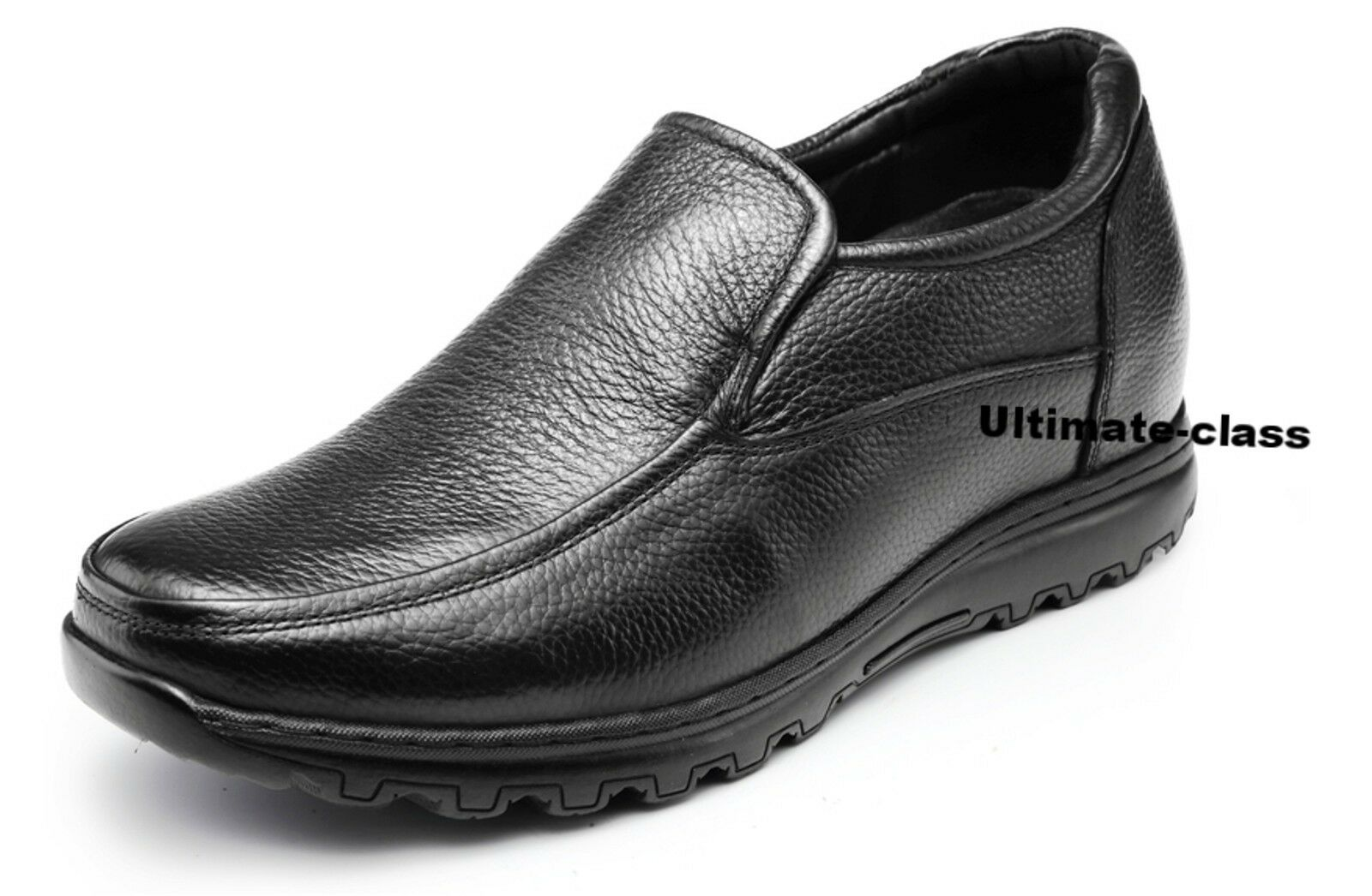 "Elegant 3.5"" Uomo Elevator Height increase Casual Dress shoes size 8 8.5 9 9.5"