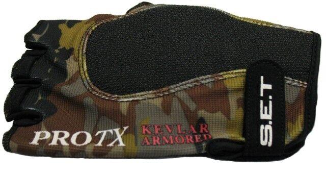 SET Predx Kevlar Hand Guard, LEFT HAND SHOOTER, Medium, Camo