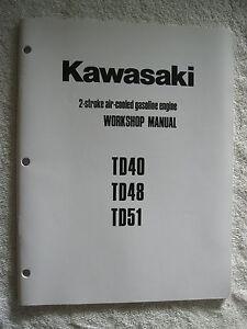 kawasaki td40 td48 td51 gas engine workshop service repair manual rh ebay com