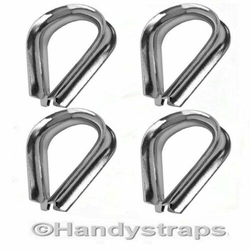 Wire Rope Thimbles 4 x 2mm for 2mm wire   Stainless Steel Marine