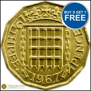1953-TO-1967-ELIZABETH-II-BRASS-THREE-PENCE-CHOICE-OF-YEAR-DATE