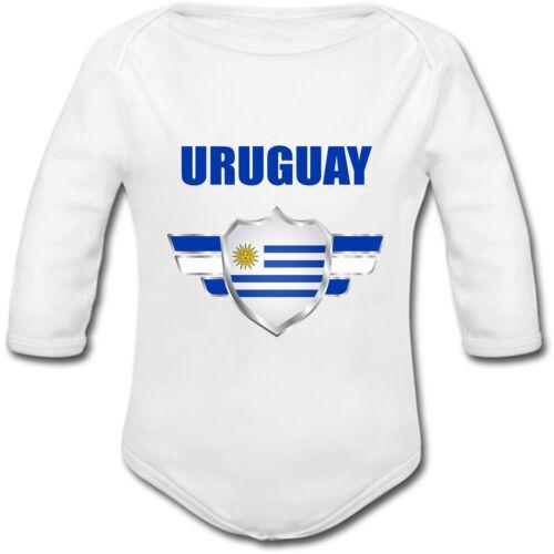 Coupe du monde football 2018 Body Bébé Uruguay personnalisé avec prénom au dos