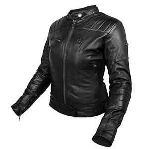 pretty nice 71703 bc217 Details about Motorcycle Jacket Ladies hevik Garage Lady Leather Black  Sizes. XL Removable hjl301f- show original title