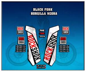 PEGATINAS-STICKERS-HORQUILLA-ROCK-SHOX-PIKE-AM108-FORK-AUFKLEBER-DECALS-ADESIVI