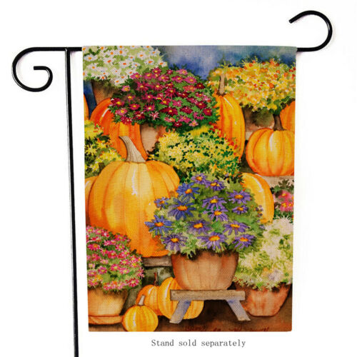 Halloween Garden Flag Double Sided Outdoor Holidays Deco Lawn Yard Flags 12x18in