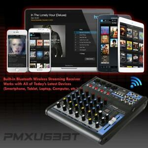 PYLE PMXU63BT 6-Channel Bluetooth Studio Mixer - DJ Controller Audio Mixing Console System Toronto (GTA) Preview