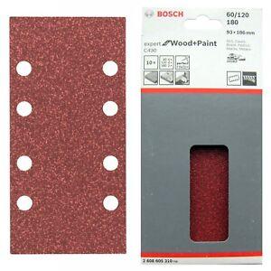 Bosch-Sanding-Sheets-Mixed-Grit-10-x-93x186-mm-8-Hole-C430-WOOD-PAINT-2608605310