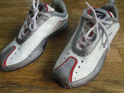 Air Nike hombre cuero White 102 Zapatillas en deporte 10 gris 304743 rojo talla para y de Ozq08