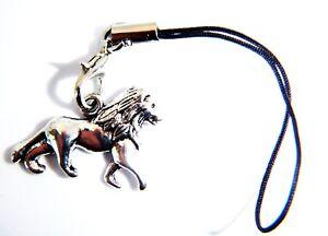 Antique Silver Lion Phone Charm Tablet Handbags Gift Bag Keys Cases Bags England