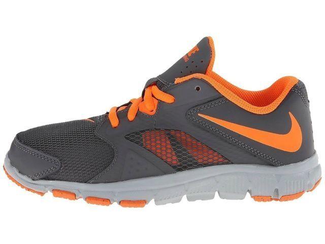 NIKE FLEX SUPREME TR3 Shoes PSGS NIB Boys 1 youth EUR 32 Gray Orange White