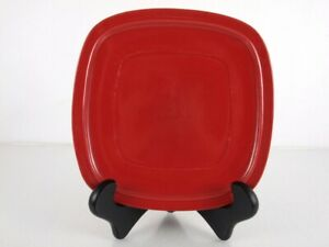 """Canopy By Home Trends 10.5/"""" Cranberry Red Dinner Plate Square"""