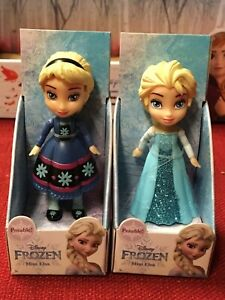 Disney Frozen Mini Toddler Figure Doll SPARKLE GLITTER Anna Elsa Olaf Sven Lot